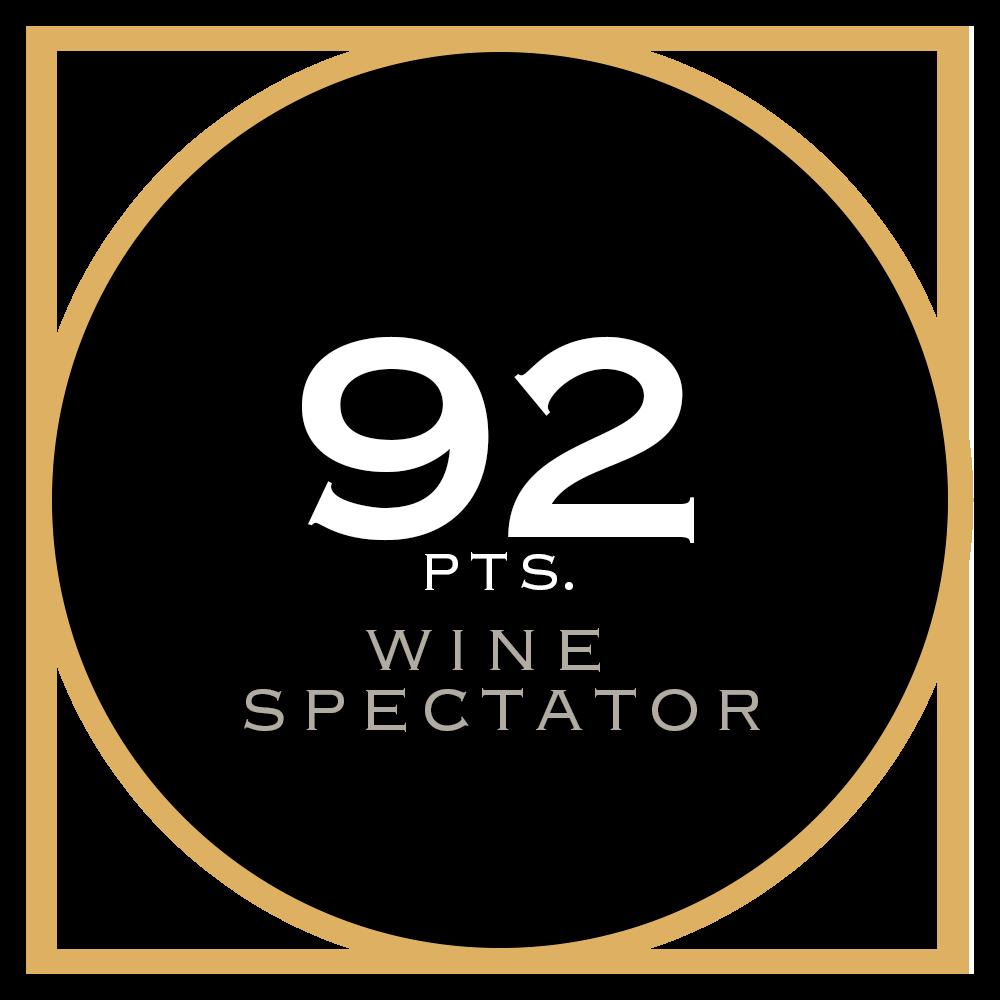 2015 92 pts. Wine Spectator