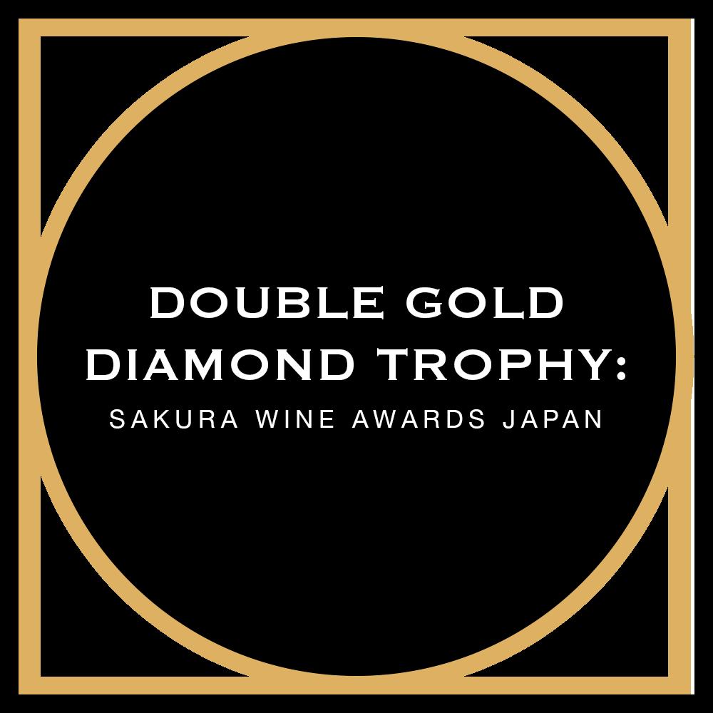Double Gold + Diamond Throphy Sakura Wine Awards Japan