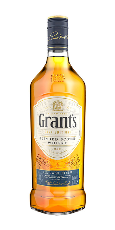 <p>Intrigued that whisky and ale have matching profiles, our Master Blender asked a local Scottish brewery to season bourbon casks with their ales. The result: Grant's Ale Cask Finish. It's the first blended Scotch to be extra-matured in casks that once held ale, resulting in a smooth, rich and creamy taste.</p>