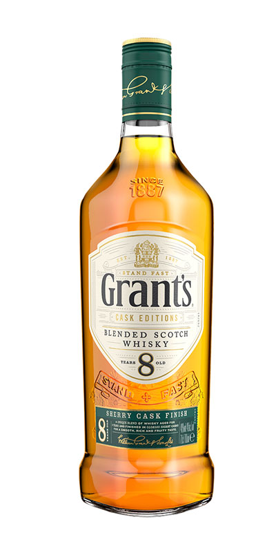 <p>We don't just mature Grant's in one cask. Our Sherry Cask Finish spends 8 years ageing in oak barrels, followed by a further maturation period in Oloroso Sherry casks handpicked from Spain by our Master Blender. This is what gives our 8yo Sherry Cask a smooth, rich and fruity taste.</p>