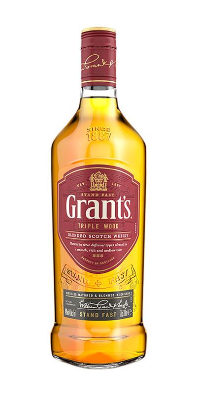 <p>Muchos whiskies toman su sabor de un solo barril, pero maduramos Grant's Triple Wood en tres tipos diferentes de madera: el barril Virgin Oak proporciona una robustez picante, el roble americano otorga una sutil suavidad a la vainilla y el relleno Bourbon ofrece una dulzura de azúcar morena, lo que resulta en un sabor más suave y rico.</p>
