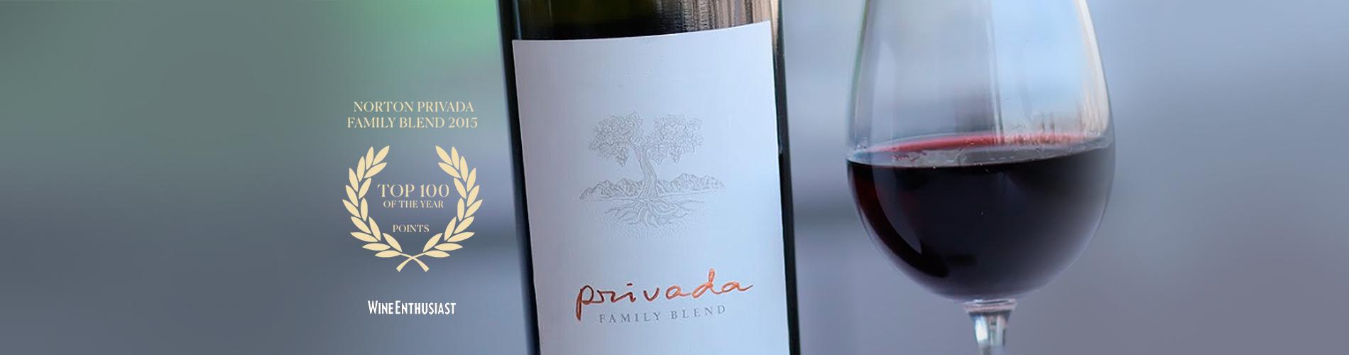 """Privada Family Blend 2015 elegido dentro del  """"Top 100 Vinos de los Andes 2018"""""""